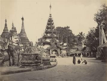 BURMA. Temple Complex Schwedagon, Burma. C1880
