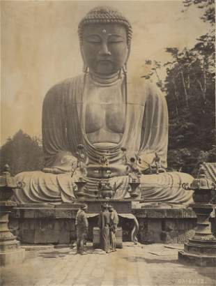 JAPAN.  Diabutsu, the Great Buddha, Kamakura. c1880