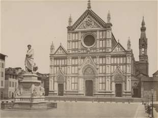 Church of the Santa Croce and the Statue of Dante,