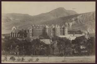 Holyrood Castle from Calton Hill, Edinburgh. C1880