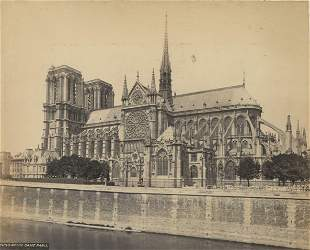 Album sheet with 6 Paris Views. c1880
