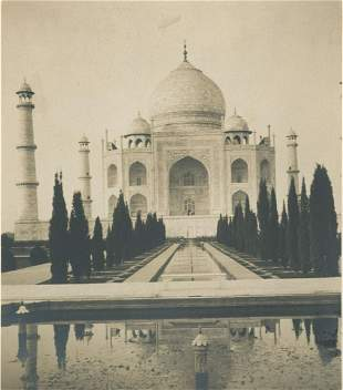 Album sheet with 3 Views of India. c1920