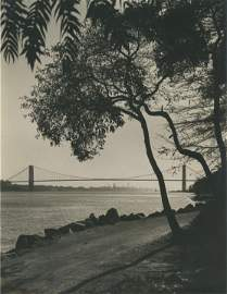 George Washington Bridge over the Hudson River. C1925