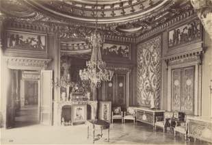 Interior room in Palace of Fontainbleau. c1890