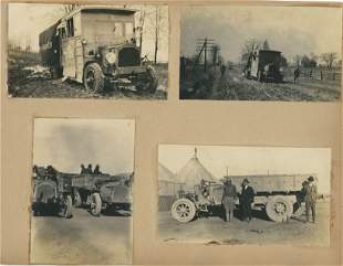 Album sheet Firestone Tire Cross Country Trial. C1920