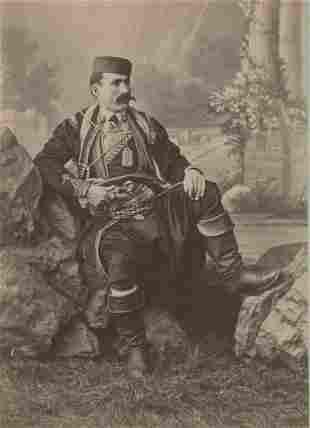 ALBANIA. Albanian soldier, c1880.