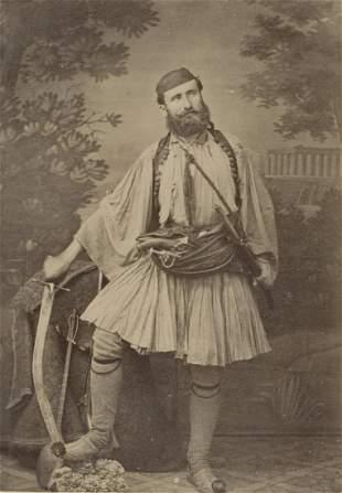 BALKANS. Balkan fighter armed to the teeth c1880