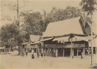 BURMA. Burmese Village. C1875