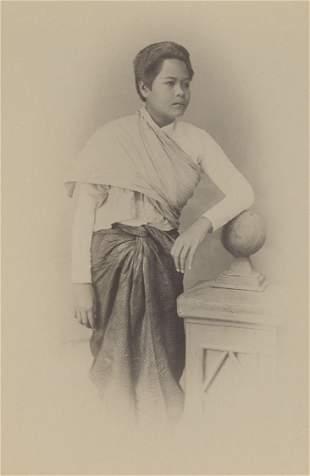 BURMA. Siamese Girl, Burma, c1880