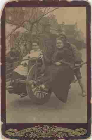 CHINA. Europeans on Wheelbarrow Transport, Shanghai,