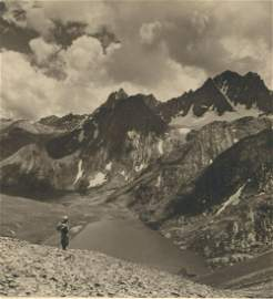 KASHMIR. Glacier Lake – Vishensar, 12,600 ft.
