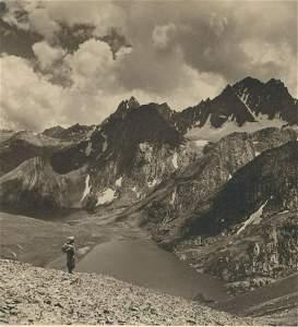 KASHMIR. Glacier Lake – Vishensar, 12,600 ft.