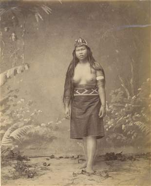 BORNEO. Young Woman from Borneo, c1880