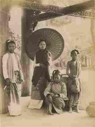 BURMA. Burmese Girls, c1880
