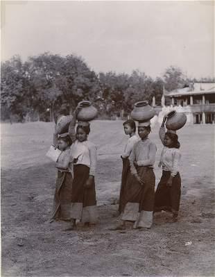 BURMA. Burmese Water Girls. C1880
