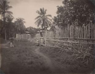 BURMA. Stockade at Katha, Burma. C1880