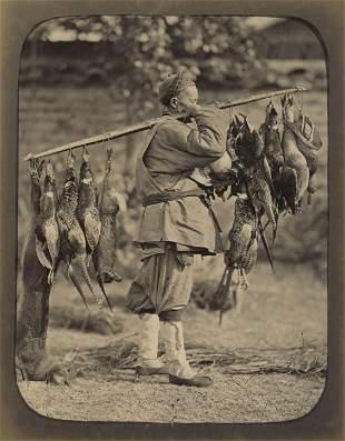 CHINA. Chinese Pheasant & Game Seller, c1870.