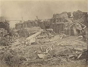 CRIMEA. Interior of the Redan, Sevastopol, 1855.