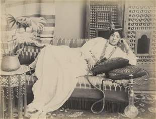 EGYPT. Lady with a Hookah. C1880