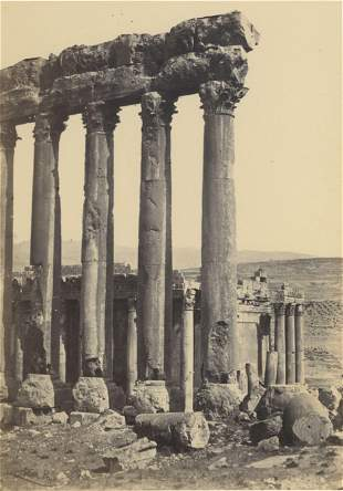 EGYPT. Baalbec, the Great Pillars and Smaller Temple.