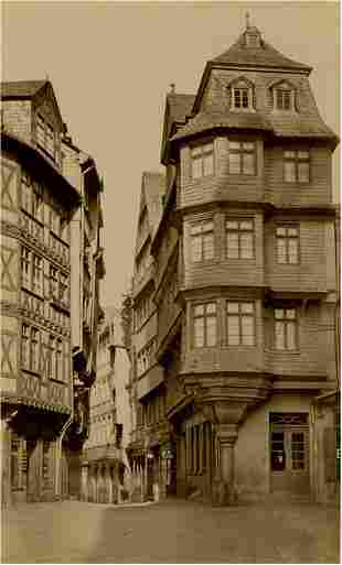 GERMANY. Luther's House, Frankfort, Germany. c1880