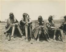 Brass Anklets on Masai Women. C1925