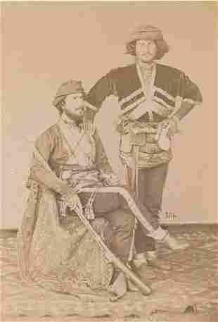 Baku Militiamen on a Caucasian carpet. C1870