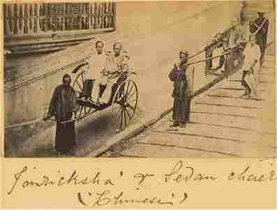 Jinricksha and Sedan Chair, China. c1865