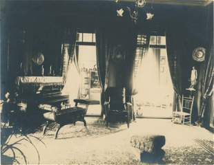 Interior of a Home in Shanghai, China. C1925