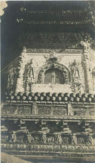 Chinese Pagoda detail. C1925