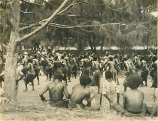 Native Dancing, Port Moresby, New Guniea. c1925