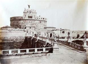 ITALY. Castle of St. Angelo and Hadrian's Tomb. C1880
