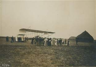 AERONAUTICAL. Henri Farman before his flight in his