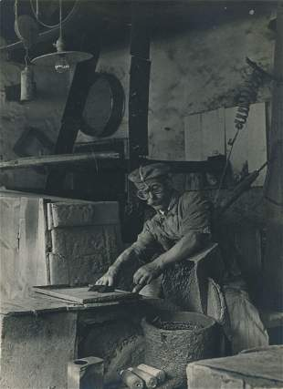 INDUSTRIAL. Man at Work. c1930