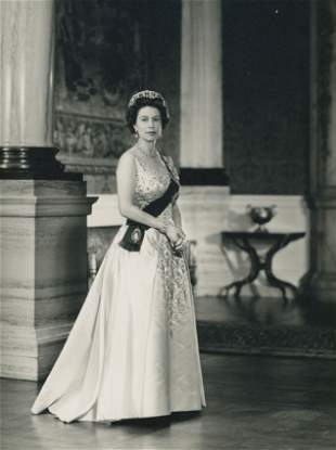 ROYALTY. 2 Photographs of Queen Elizabeth II and Prince