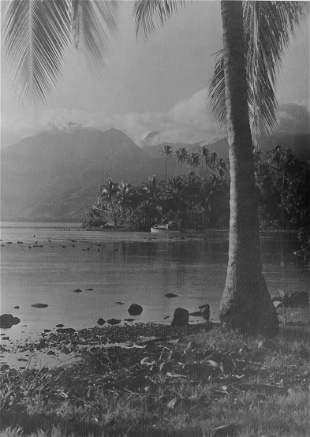 TAHITI. Original Photograph of Tahiti by Zane Grey.