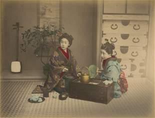 Ladies Tea Time. C1880