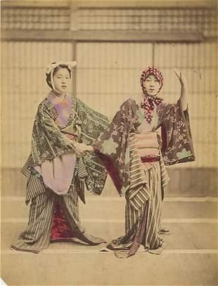 Geisha Dancers. C1880
