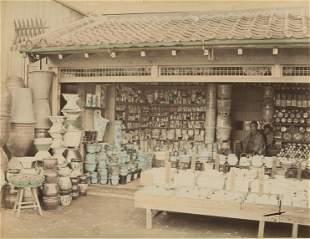 Porcelain and Ceramics Shop. c1885.