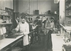 SCIENCE. Scientists at Work in a Laboratory. C1920