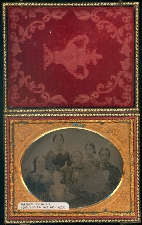 Quarter Plate Ambrotype Of Drake Family