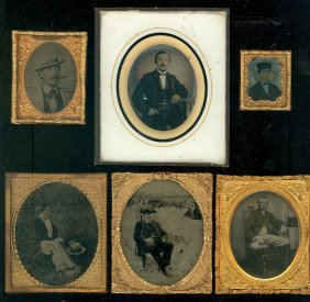 6 Ambrotypes Of Men