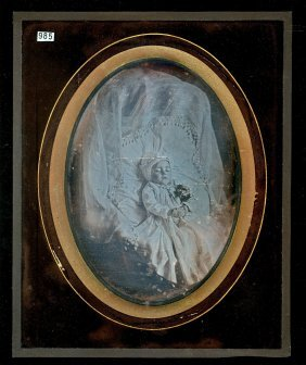 Full Plate Post Mortem Daguerreotype Of A Small Child.