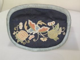 Chinese Embroidered Pouch With Forbidden Stitch