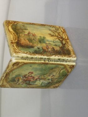 Exquisite Hand Painted Ivory Box