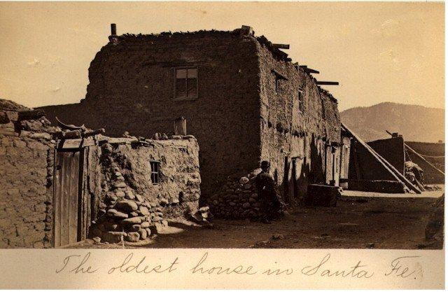 Oldest House in Sante Fe, New Mexico. C1865