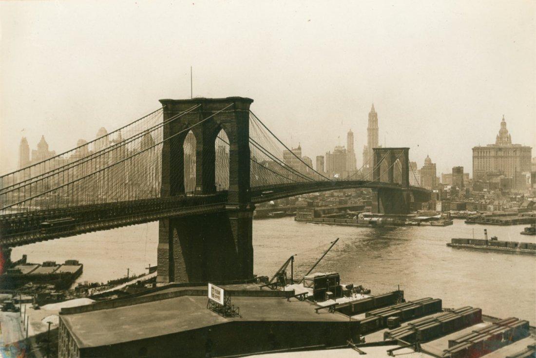Brooklyn Bridge, New York City, c1930