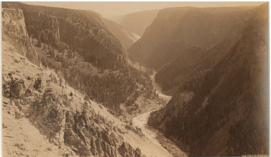 Grand Canyon of the Yellowstone from Inspiration Point,