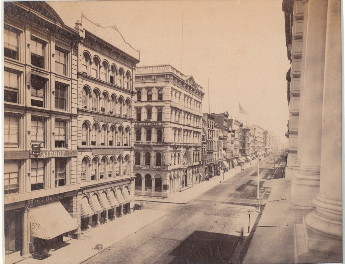 Broadway, New York, c1878