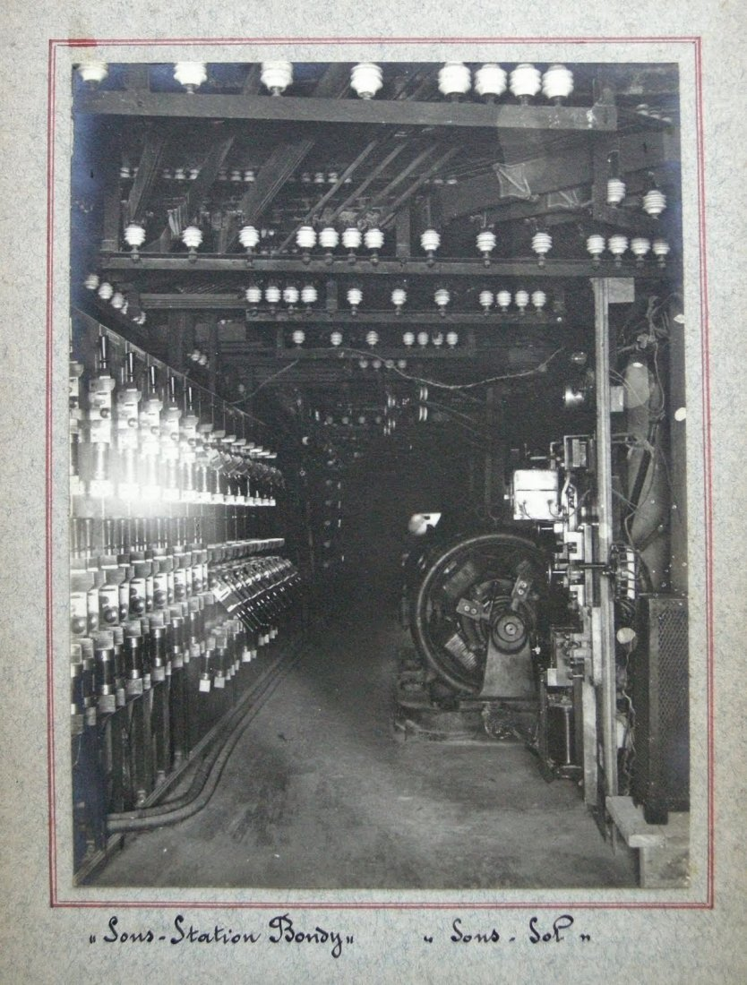Industrial Photograph Album - Installation of electric